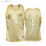 Maillot Enfants Los Angeles Clippers NO.1 Reggie Jackson Or Hardwood Classics