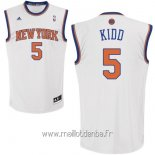 Maillot New York Knicks No.5 Jason Kidd Blanc
