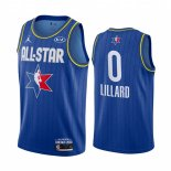 Maillot 2020 All Star NO.0 Damian Lillard Bleu
