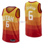Maillot Utah Jazz Nike NO.6 Joe Johnson Nike Jaune Ville