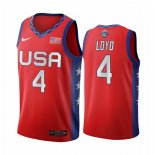 Maillot 2020 Jeux Olympiques Tokyo USMNT NO.4 Jewell Loyd Rouge