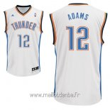 Maillot Oklahoma City Thunder No.12 Steven Adams Blanc