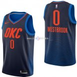 Maillot Oklahoma City Thunder Nike NO.0 Russell Westbrook Marine Statement