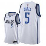 Maillot Dallas Mavericks Nike NO.5 J.J. Barea Blanc Association 2018