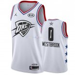 Maillot 2019 All Star NO.0 Russell Westbrook Blanc