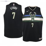 Maillot Enfants Milwaukee Bucks NO.7 Ersan Ilyasova Noir Statement 2019/2020