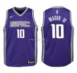 Maillot Enfants Sacramento Kings NO.10 Frank Mason III Pourpre Icon 2018