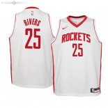 Maillot Enfants Houston Rockets NO.25 Austin Rivers Blanc Association 2019/2020