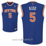Maillot New York Knicks No.5 Jason Kidd Bleu