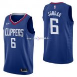 Maillot Los Angeles Clippers Nike NO.6 DeAndre Jordan Bleu Icon