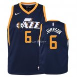 Maillot Enfants Utah Jazz NO.6 Joe Johnson Marine Icon 2018