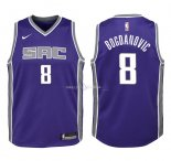 Maillot Enfants Sacramento Kings NO.8 Bogdan Bogdanovic Pourpre Icon 2018