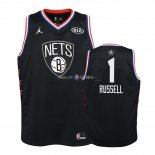 Maillot Enfants 2019 All Star NO.1 D'Angelo Russell Noir