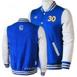 Veste En Laine Golden State Warriors No.30 Stephen Curry Bleu