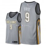 Maillot Cleveland Cavaliers Nike NO.9 Channing Frye Nike Gris Ville 2018