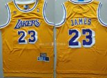 Maillot Los Angeles Lakers NO.23 Lebron James Retro Jaune