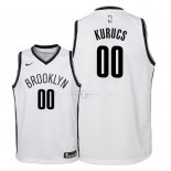 Maillot Enfants Brooklyn Nets NO.0 Rodions Kurucs Blanc Association 2018