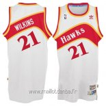 Maillot Atlanta Hawks No.21 Dominique Wilkins Blanc