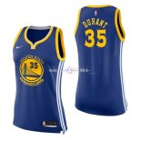 Maillot Femme Golden State Warriors No.35 Kevin Durant Bleu Icon