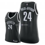Maillot Femme Brooklyn Nets NO.24 Rondae Hollis Jefferson Noir Icon 2018