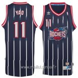 Maillot Houston Rockets No.11 Yao Ming Retro Bleu