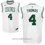 Maillot Boston Celtics No.4 Isaiah Thomas Blanc