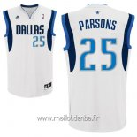 Maillot Dallas Mavericks No.25 Chandler Parsons Blanc