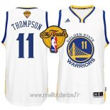 Maillot Golden State Warriors Finales No.11 Thompson Blanc