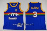 Maillot Enfants Denver Nuggets No.3 Allen Iverson Bleu