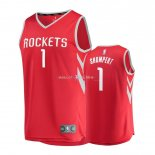 Maillot Enfants Houston Rockets NO.1 Iman Shumpert Rouge Icon