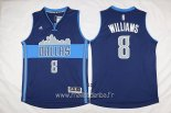 Maillot Dallas Mavericks No.8 Deron Michael Williams Bleu Profond