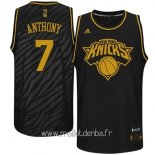 Maillot New York Knicks Metales Mode Précieux No.7 Anthony Noir