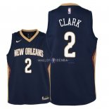 Maillot Enfants New Orleans Pelicans NO.2 Ian Clark Marine Icon 2018