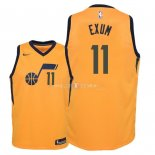 Maillot Enfants Utah Jazz NO.11 Dante Exum Jaune Statement 2018