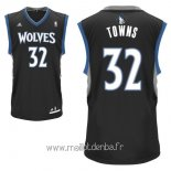 Maillot Minnesota Timberwolves No.32 Karl Anthony Towns Noir