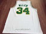 Maillot Seattle Supersonics No.34 Ray Allen Retro Blanc