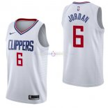 Maillot Los Angeles Clippers Nike NO.6 DeAndre Jordan Blanc Association