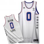 Maillot 2015 All Star No.0 Kevin Love Blanc