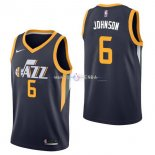 Maillot Utah Jazz Nike NO.6 Joe Johnson Marine Icon