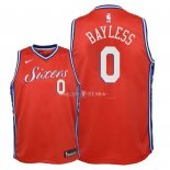 Maillot Enfants Philadelphia Sixers NO.0 Jerryd Bayless Rouge Statement 2018