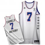 Maillot 2015 All Star No.7 Carmelo Anthony Blanc