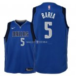 Maillot Enfants Dallas Mavericks NO.5 J.J. Barea Bleu Icon 2018