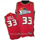 Maillot Detroit Pistons No.33 Grant Hill Rose