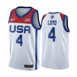 Maillot 2020 Jeux Olympiques Tokyo USMNT NO.4 Jewell Loyd Blanc