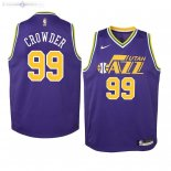 Maillot NBA Enfant Utah Jazz NO.99 Jae Crowder Pourpre Hardwood Classics