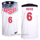 Maillot 2014 USA Rose No.6 Blanc