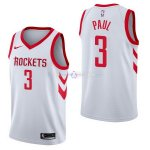 Maillot Houston Rockets Nike NO.3 Chris Paul Blanc Association