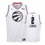 Maillot Enfants 2019 All Star NO.2 Kawhi Leonard Blanc