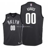 Maillot Enfants Brooklyn Nets NO.0 Rodions Kurucs Noir Statement 2018