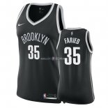 Maillot Femme Brooklyn Nets NO.35 Kenneth Faried Noir Icon 2018